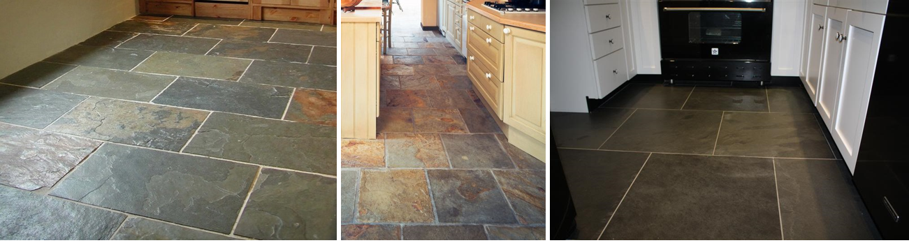Why is slate used in floor tiles